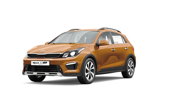 Новый KIA Rio X-Line 2018 Sunset Orange
